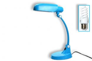 Designer Toucan Articulated Funky Desk Lamp Blue with Eco Daylight Bulb UK